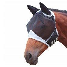 Cheval amovible masque en maille avec couverture nasale cheval mouche masque cheval masque complet Anti-moustique nez Anti-UV