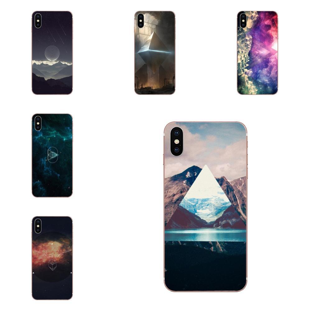 Funda blanda de TPU para teléfono Spaceman con diamante triangular para Apple iPhone 4 4S 5 5C 5S SE 6 6S 7 8 Plus X XS Max XR