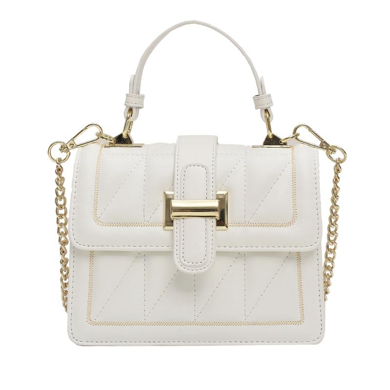 Wanghong lady's bag 2020 fashionable new fashion versatile Chain Bag Messenger Bag summer portable small square bag