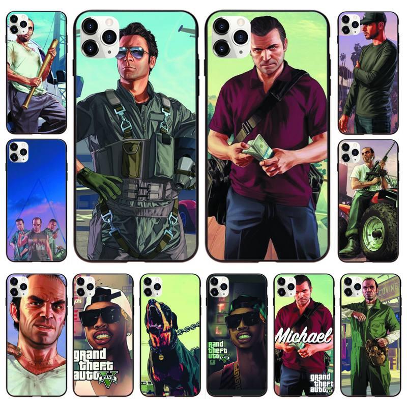 Rockstar Games Grand Theft Auto Gta 5 Phone Case For IphoneX XS 11 12 11/12Pro Max 5 5s SE 6 6s 7 8 Plus SE2020 Cases