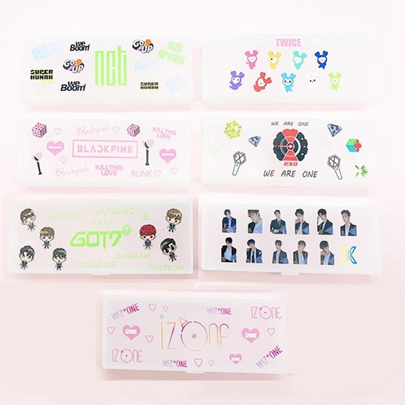 1 Pcs Kpop BLACKPINK Plastic Pencil Case Storage Organizer Pen Bag Fans Stationery Student Kids Gifts