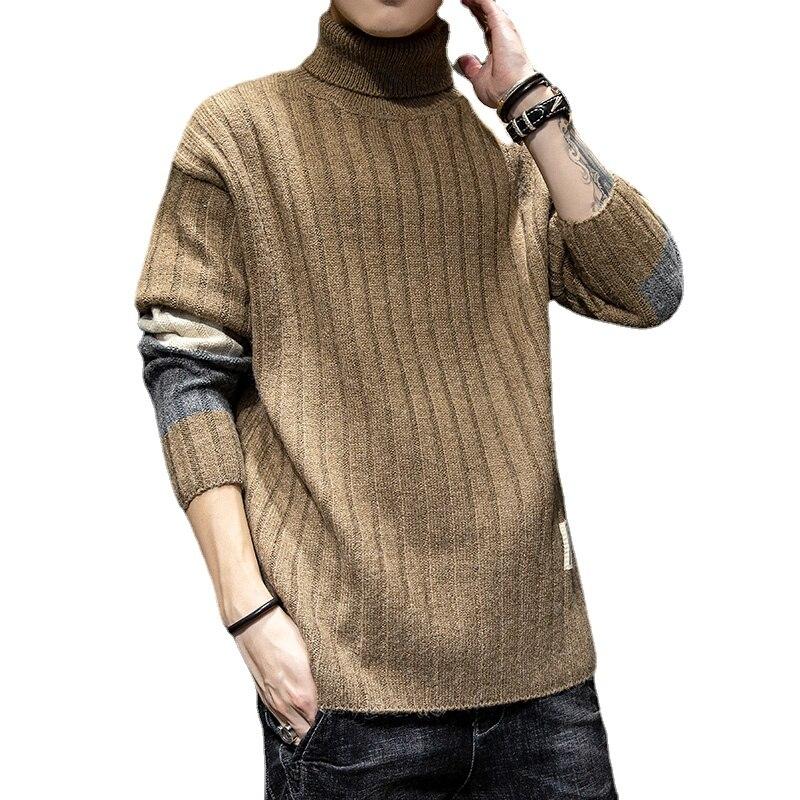 Винтажная одежда, мужская одежда, мужской свитер, винтажный пуловер, Мужской пуловер, Мужская трикотажная одежда с высоким воротником, мужс...