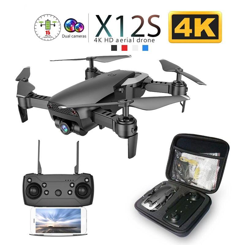X12 X12S WiFi FPV RC Drone con 0 3MP/1080P/4K Cámara Dual de HD de flujo óptico RC Quadcopter juguetes chico Dron del SG106 viso xs816