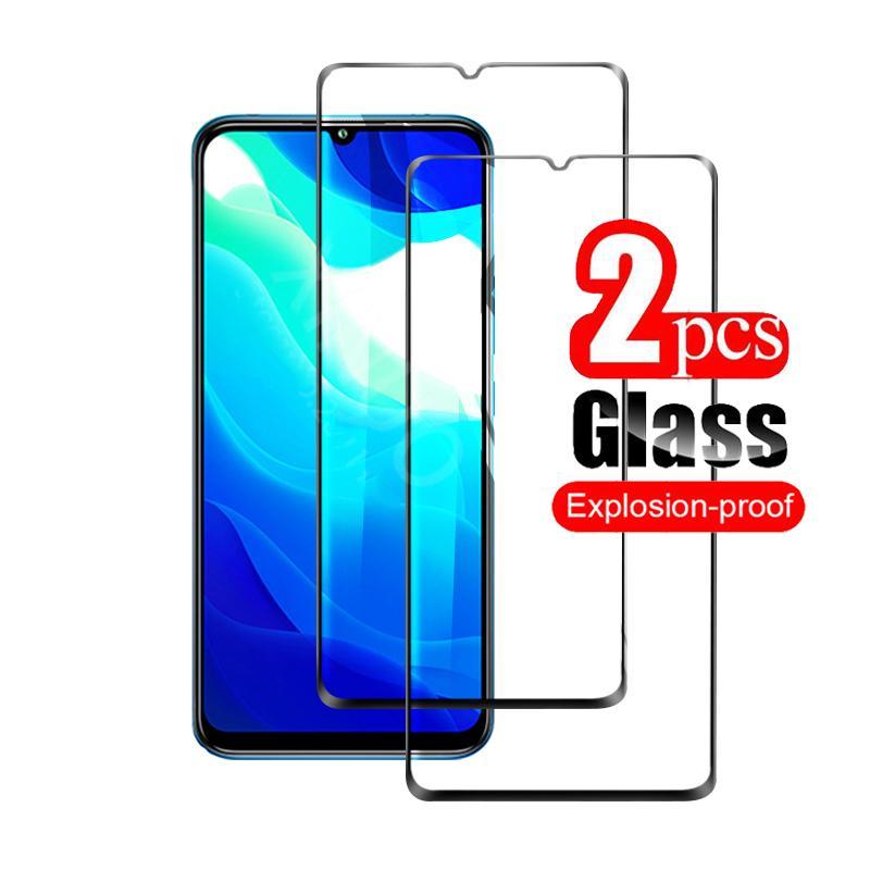 2 pçs 9d cola completa protetor de tela de vidro para xiaomi redmi 9 nota 9 9s 9pro max 9a 9c k30 k20 pro redmi nota 8t 8a 8 7 pro vidro