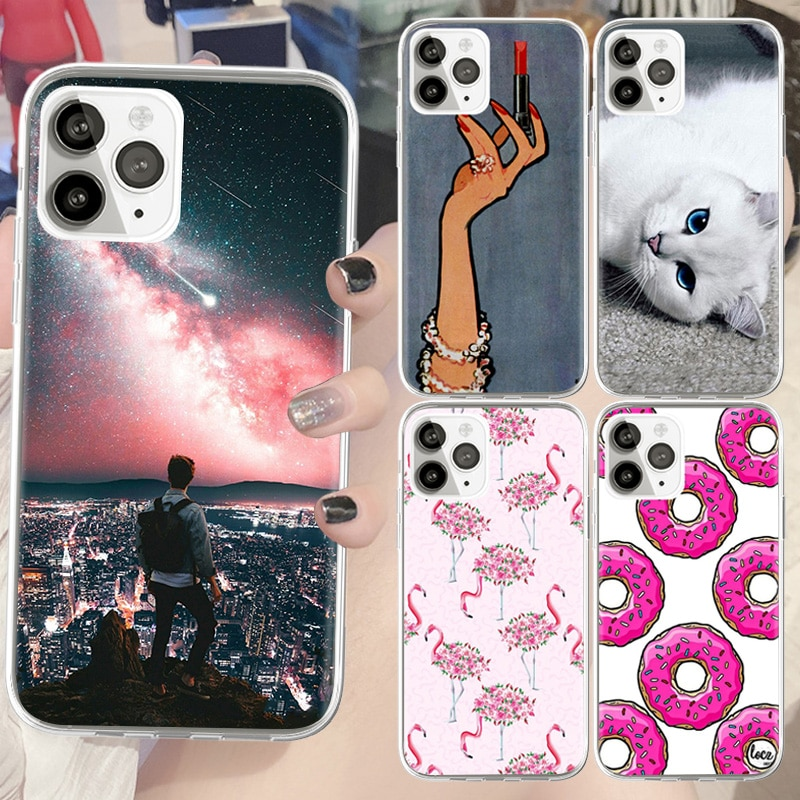 Phones Soft Silicon Retro Printing Case for IPhone 6 6S 12 Mini X XR XS SE 2021 Soft TPU for IPhone