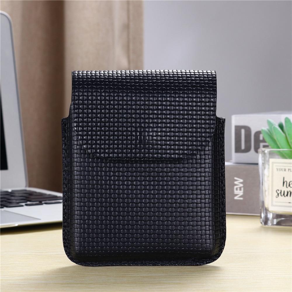 100% جلد طبيعي الهاتف المحمول حزام الخصر حقيبة لسامسونج غالاكسي Z الوجه 5G اليدوية الحافظة غطاء الهاتف حامل حقائب رجل