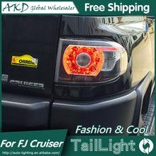 AKD Car Styling for Toyota 2007-2013 FJ Cruiser Tail Lights FJ150 LED Tail Light Cruiser Rear Lamp DRL+Brake+Park+Signal