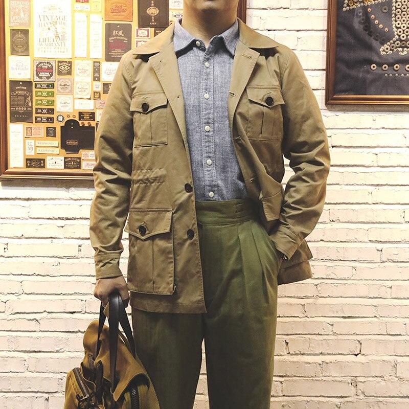 WT-0008 Read Description! 100% Cotton Vintage Stylish Safari Bush Jacket