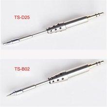 Pointes de fer à souder dorigine TS-D25/B02 TS80 embouts de fer à souder de remplacement électriques enfichables pour fer à souder numérique TS80 à chaud