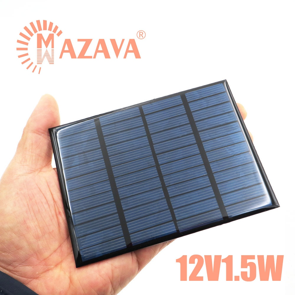 1Pcs Solar Panel 12V 1.5W Mini Solar System DIY Outdoor Battery Cell Phone Chargers Portable Solar Cell 1.5W 18650