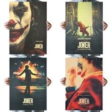 DLKKLB-autocollant mural Vintage du film Joker DC   Autocollant Batman superhéros Clown, 51X36cm en papier Kraft, peinture décorative pour la maison