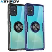 Чехол KEYSION для Samsung A51, A71, A70, A50, A30, A01, противоударный чехол для телефона Galaxy S20 Ultra, S10 +, Note 10 Lite, прозрачный