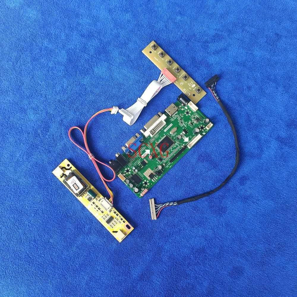 HDMI-متوافق VGA DVI LVDS 20 دبوس M.NT68676 وحدة تحكم لوحة للقيادة عدة 2CCFL ل LM150X06/LM150X07/LM150X08 1024*768 مراقب