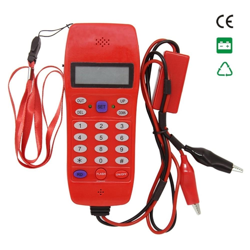 NF-866 linha de telefone cabo testador com tela tela tele fibra óptica ferramenta verificação dtmf caller id detecção automática máquina pesquisa