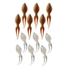 6 uds señuelo de pesca suave cola dividida PVC haluro cebo Artificial Swimbait aparejo de pesca 8g/13cm para pescador