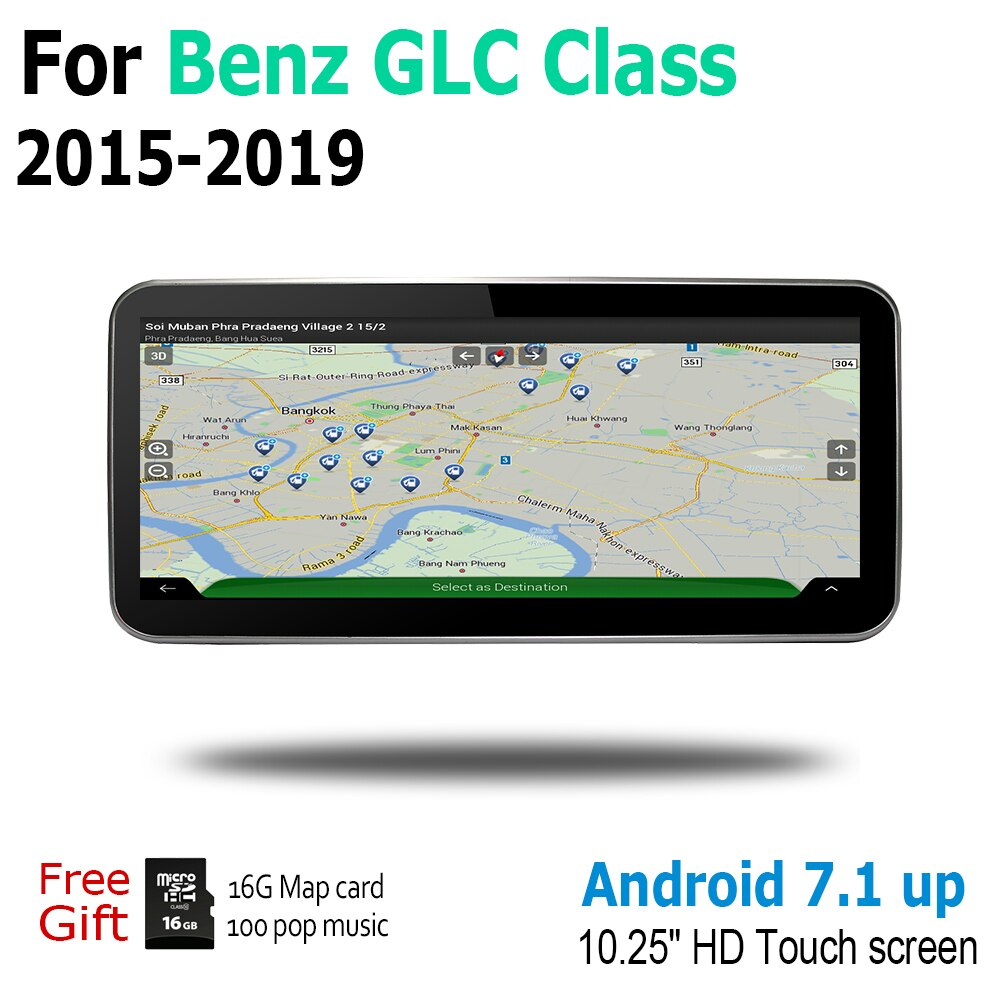 Para Mercedes Benz GLC, clase 2015, 2016, 2017, 2018, 2019 NTG Android GPS para coche Navi mapa estilo Original reproductor Multimedia Auto Radio