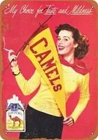 killy cheerleaders camel cigarettes wall tin sign retro plaque iron painting vintage metal sheet creativity fashion poster