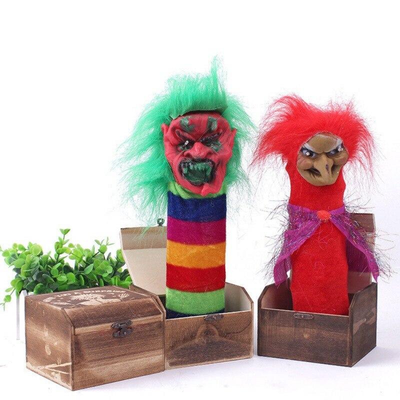 Caja de madera de miedo travieso para Halloween, trucos de terror, regalos electrosónicos de Taro, accesorios de fiesta de broma, juguetes para niños