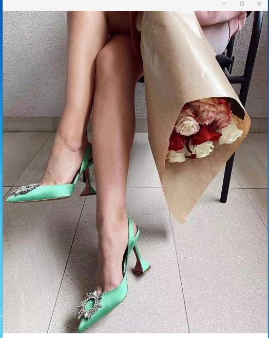 أحذية نسائية صيفية فاخرة بكعب عالٍ من الكريستال ماركة 2021 أحذية عروس صيفية مريحة بكعب مثلث أحذية حفلات الزفاف