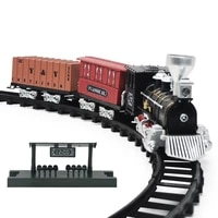 childrens toy with led light for children toys games train set railway toy retro model train sound tain kids simulation train