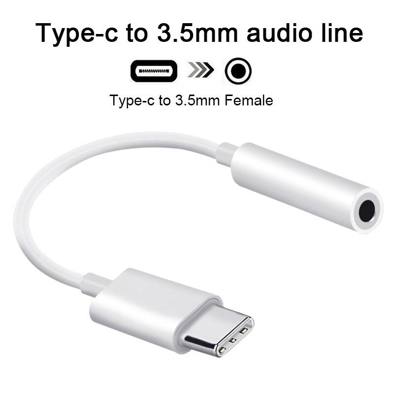 Cable adaptador de auriculares tipo C a 3,5mm, conector auxiliar de Audio...
