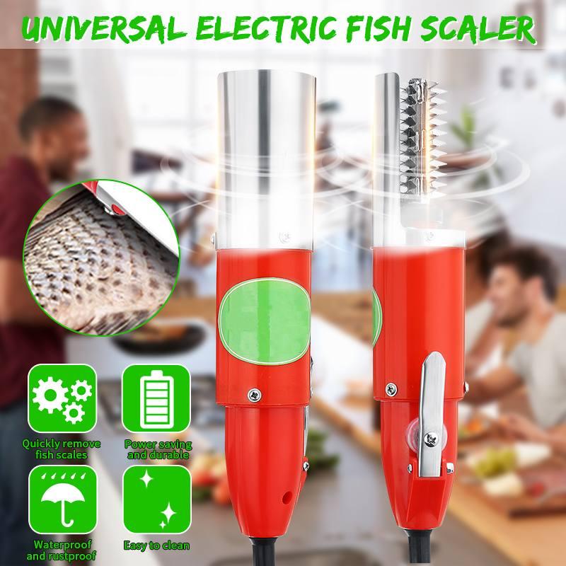مكشطة مقياس السمك الكهربائية ، 120 واط ، مقاومة للماء ، قشارة صيد ، تنظيف سهل ، مزيل تجريد الأسماك ، أداة ، محول شحن