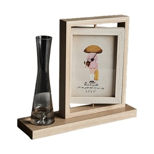 Rotary Family Photo Frame Double-Sided Picture Frame for Table Desk Top Display with High Definition Glass Unique Gifts
