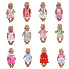 Hot Dress Doll ClothesFit 17 inch 43cm Doll Clothes Born Baby Suit For Baby Birthday Festival Gift