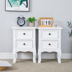 Simplicity Nightstand Bedside Table Magazine Cabinet Storage Organizer Bedside Table Bedroom Furniture With 2 Drawers HWC