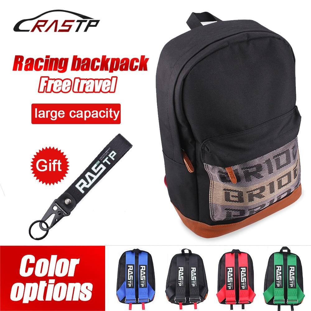 Тканевый гоночный рюкзак JDM для невесты, Холщовый Рюкзак для автомобиля, мотоцикла, Дорожный чемодан с брелком, школьная сумка RS-BAG040