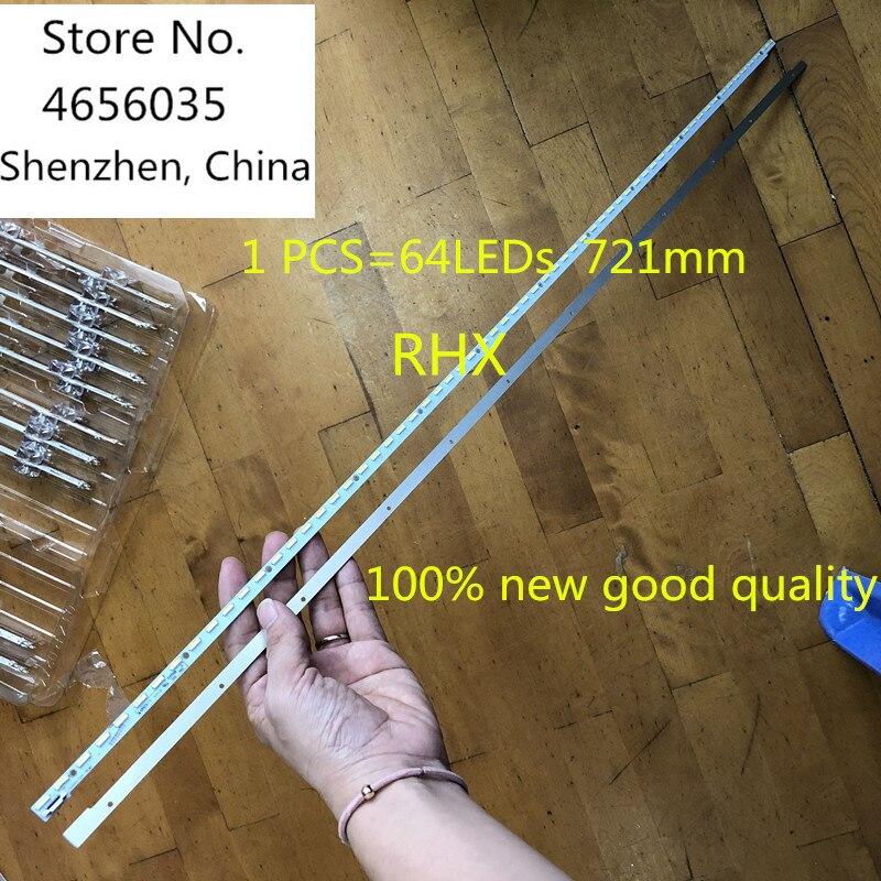 5 pçs/lote 100% nova boa qualidade 64 leds 721mm led backlight strip V580H1-LE6-TREM2 para led58k280j V580HJ1-LE6