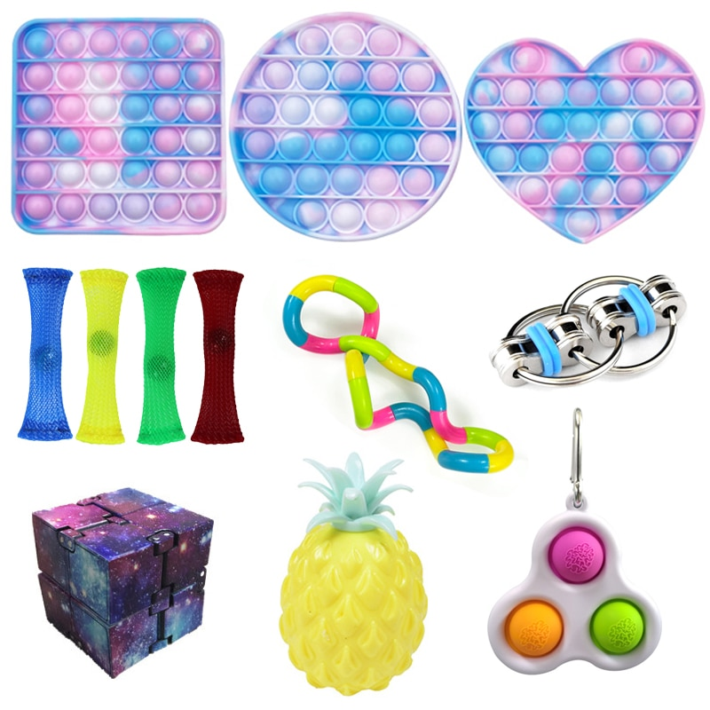 Fidget Sensory Toy Set Stress Relief Toys Autism Anxiety Relief Stress Bubble Fidget Sensory Toy For Kids Adults Antistress Pack enlarge