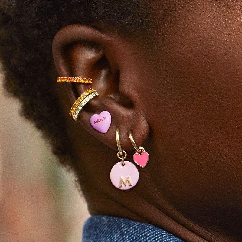 2019 New Luxury Jewelry Micro paving CZ Zircons Stone Small Ear Cuff Clip Hoop Earrings for Women Earcuffs No Piercing