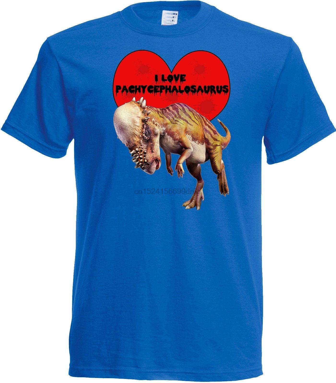Camiseta I Love Pachycephalosaurus Elección de tamaño y colección de dinosaurios cols