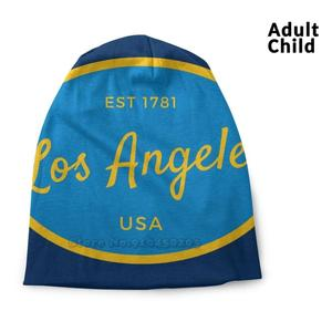 Los Angeles California Blue 2 Established Usa Shirts Stickers Gifts Knitted Cap Casual Beanies Hip-Hop Hat Los Angeles