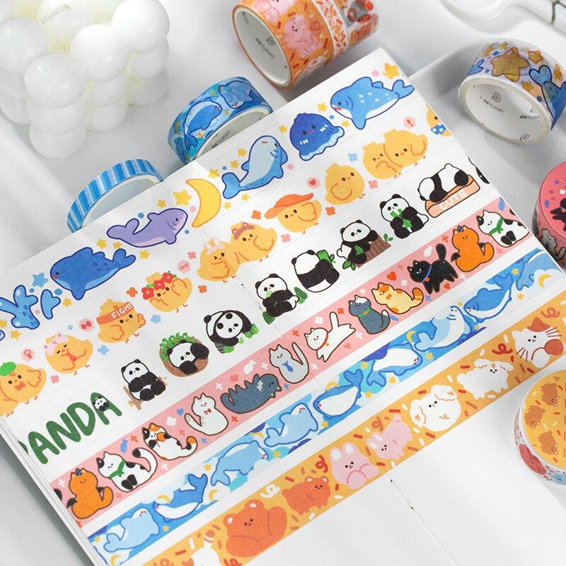 3 pcs/lot Animal group house series Decorative Adhesive Tape Masking Tape set Diy Scrapbooking Sticker Label Japanese Stationery