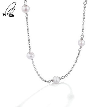 S'STEEL Sterling Silver 925 Clavicle Chain Women's Baroque Pearl Necklace Women's Neck Anniversary 2021 Trend Fine Jewelry