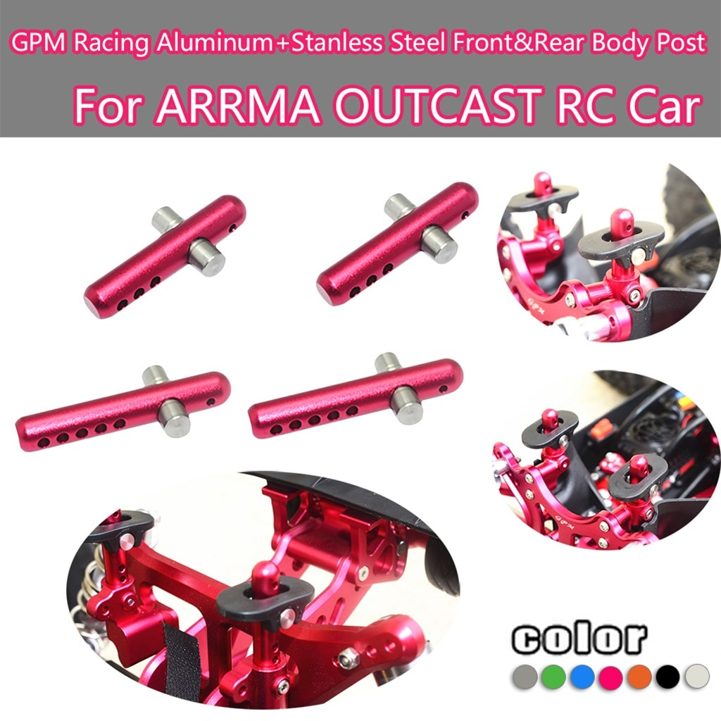Gpm Racing aluminio inferior trasero brazo + trasero articulación de brazo para Arrma 1/8 Kraton Rc coche de Rc accesorios partes Игрушки Для Детей