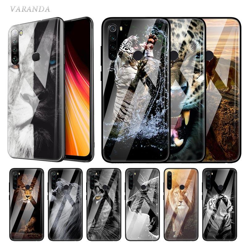 Animal Lion Tiger Glass Case For Xiaomi Redmi Note 8T 9S 7 8 9 K30 Pro Zoom Mi A3 CC9 9T 10 Lite 5G X2 Phone Carcasa