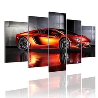 modern sports car 5 panels canvas painting hd poster wall art print picture for living room interior home decoration frame