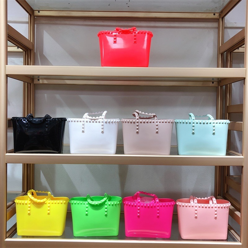 Jelly Handbags Women's Shoulder Bag PVC Mini Crossbody Bags for Women 2020 Small Cluth Purse Clear T