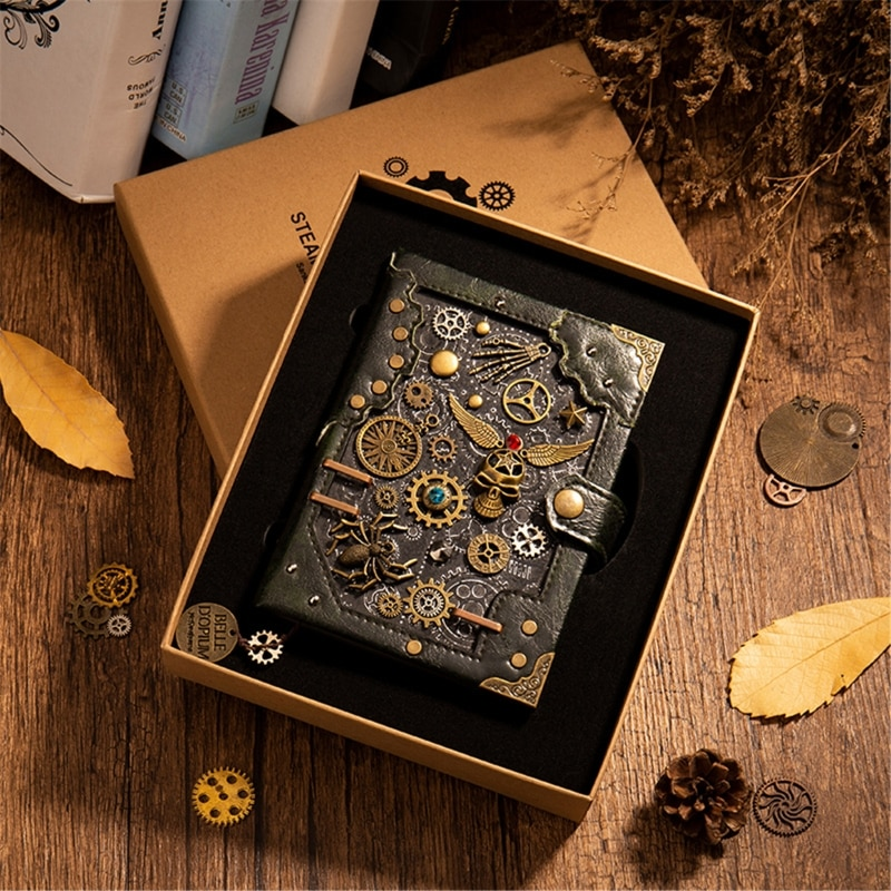 Steampunk Gear Retro Notebook Artwork Level Handmade Exquisite Novelty Gift