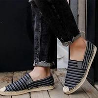 flats mens casual shoes china style spring autumn shoes men hemp canvas man shoesloafers men handmade shoes man espadrilles