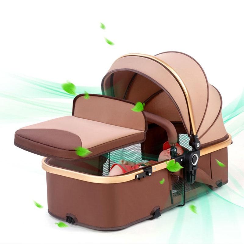 7.5Kg Reversible Luxury Baby Stroller 2 in 1 Portable High Landscape Stroller Hot Mom Pink Stroller Travel Pram Infant Pushchair enlarge