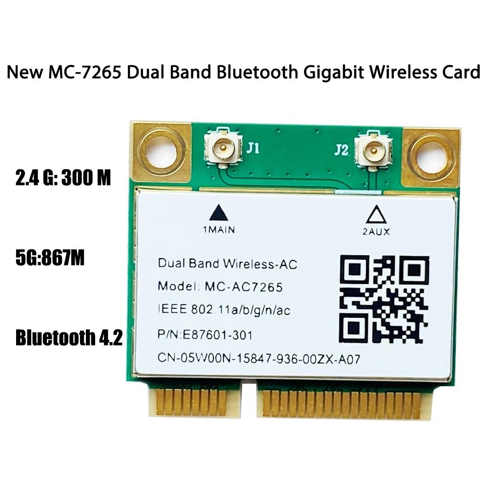 MC-AC7265 سماعة لاسلكية تعمل بالبلوتوث 4.2 بطاقة الشبكة ثنائي النطاق 2.4Ghz/ 5Ghz واي فاي 6 محول 802.11ax/التيار المتناوب بطاقة الشبكة الصغيرة Pcie جيجابت