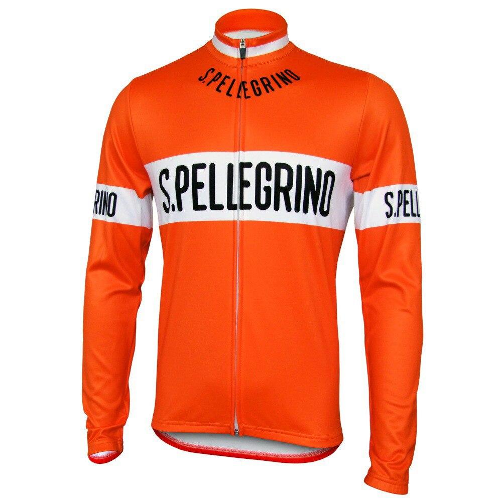 Spellegrino-Maillot Retro De manga larga para Ciclismo, Ropa De Ciclismo De montaña...