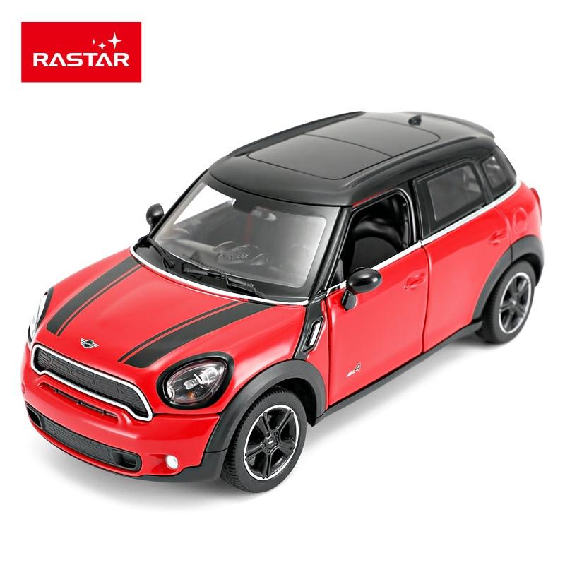 Rastar Diecast 124 Mini Coopers Countryman Red Blue SUV High Simulator Alloy Metal Model Car Pull-back Vehicles