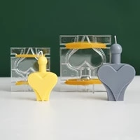 spades heart 3d candle mold aromatherapy candle mold handmade candle making love aromatherapy plaster mold spades soap mold make