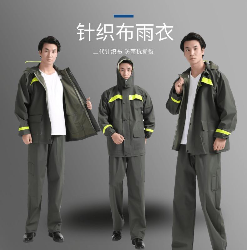 Plastic Raincoat Men Waterproof Outdoor Motorcycle Rain Suit Japanese Military Coat Fishing Rain Gear Reusable Chuva Home Eg50yy enlarge