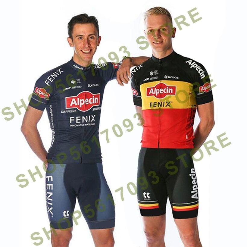 2020 equipo Alpecin Fenix ciclismo jersey 20D pantalones cortos de bicicleta desgaste mtb Ropa de los hombres de secado rápido pro bicicleta camisas Maillot Culotte